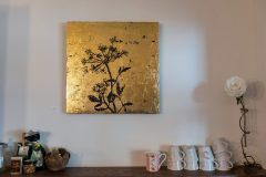 Goldbild-Wiesenkerbel-Kunst